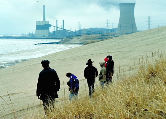 lake-michigan-beach-power-plant